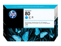 BLEKK HP NO80 CYAN INK CARTRIDGE, 175ML