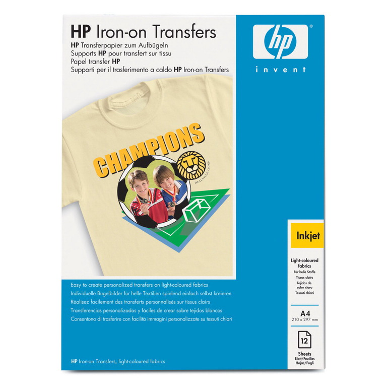 PAPIR HP A4 IRON ON T-SHIRT TRANSFERS(12)