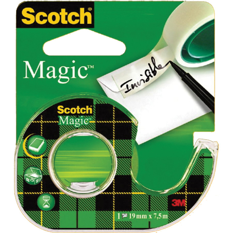 TAPE SCOTCH 1975D MAGIC 19MMX7,5M I DISP