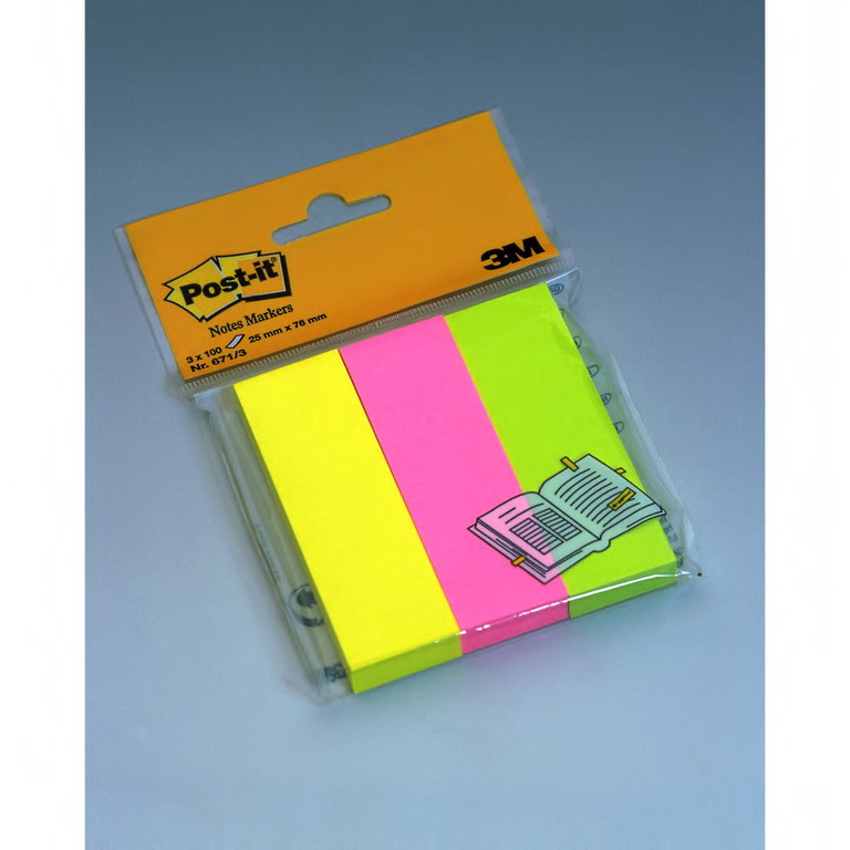 POST-IT 671 NOTEMARKERS ASS FARG 25X76MM