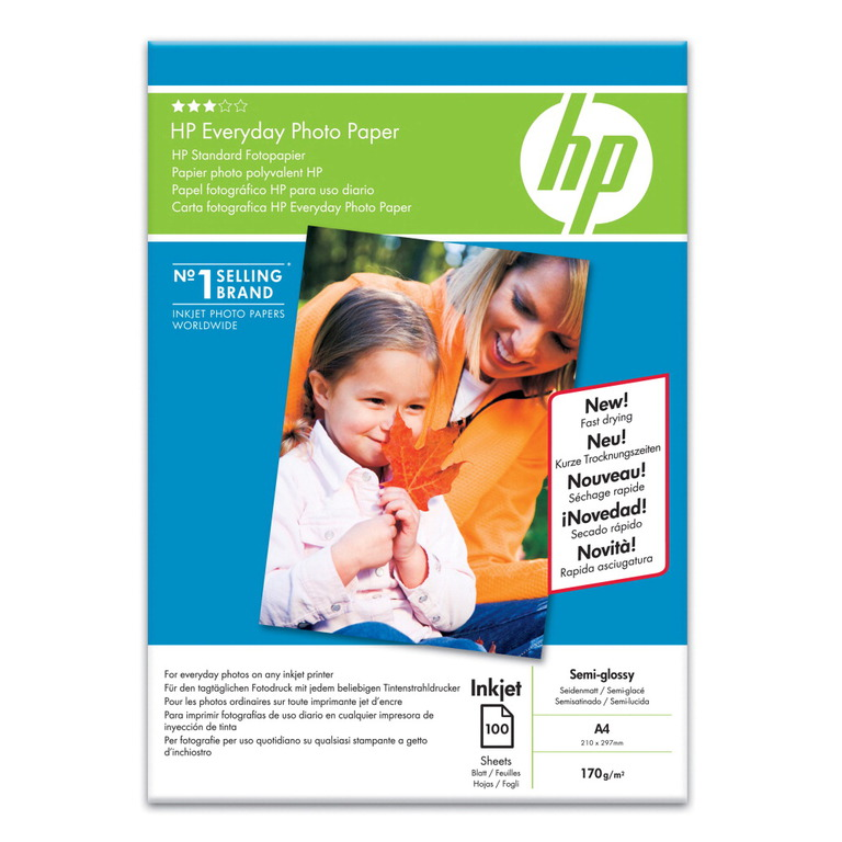 PAPIR HP A4 FOTO EVERYDAY GLOSSY 200G (100)