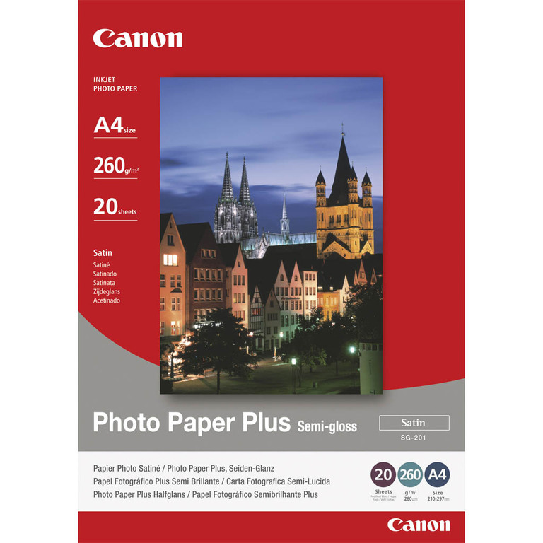 PAPIR CANON A4 PHOTO PLUS SEMI GLOSSY (SG-201)260G(20)