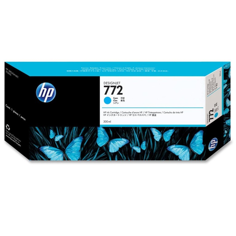 BLEKK HP NO772 CYAN INK CARTRIDGE, 300 M
