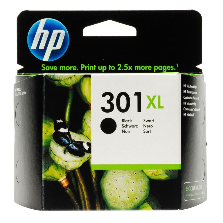 BLEKK HP NO301 XL SORT INK CARTRIDGE, BL