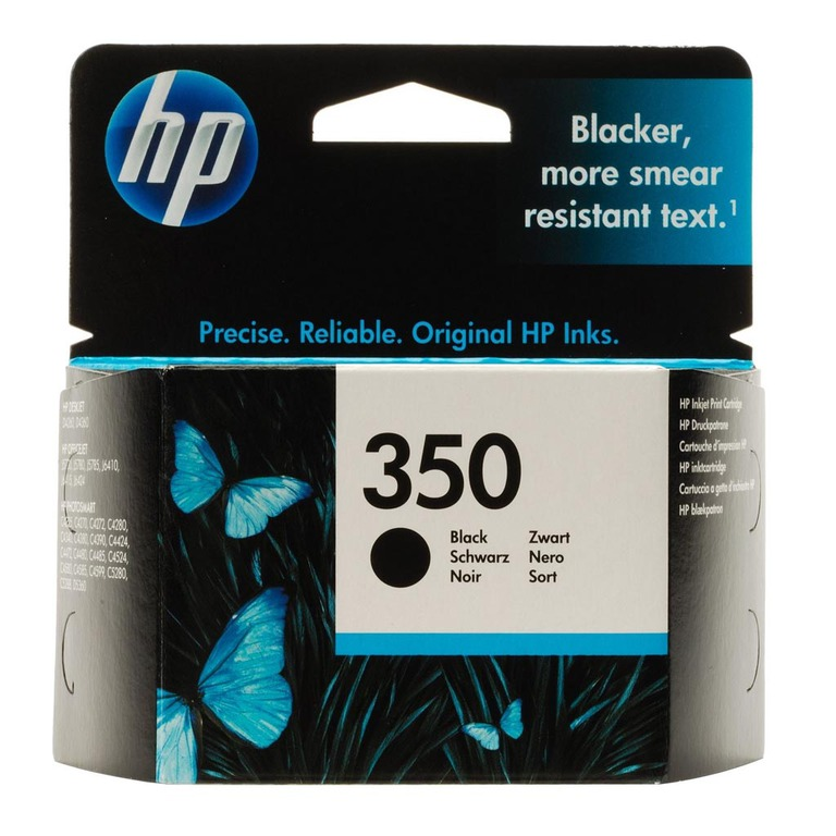 BLEKK HP NO350 SORT INK CARTRIDGE, BLIST