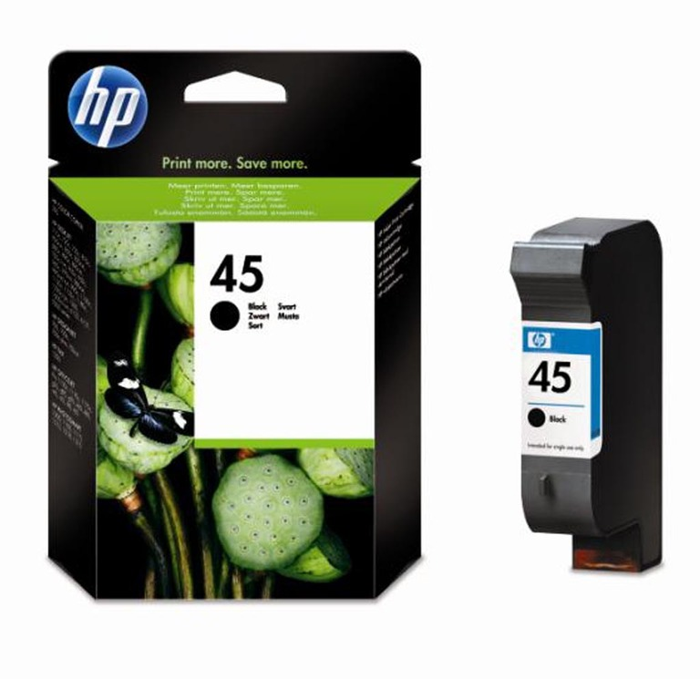 BLEKK HP NO45 SORT LARGE INK CARTRIDGE,