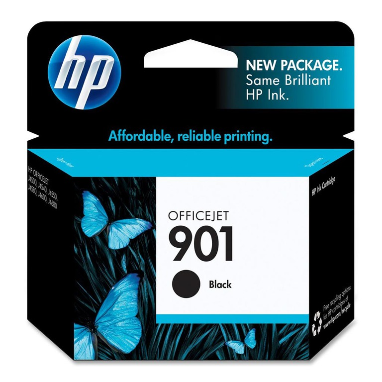 BLEKK HP NO901 SORT INK CARTRIDGE, BLIST