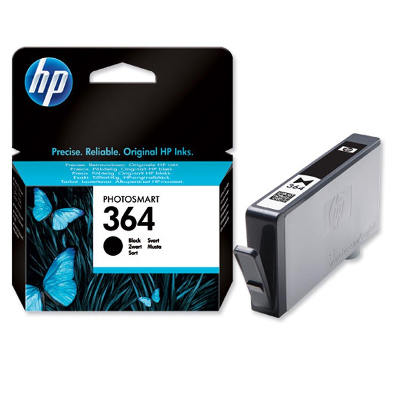 BLEKK HP NO364 SORT INK CARTRIDGE, BLIST