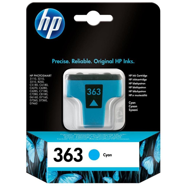 BLEKK HP NO363 CYAN INK CARTRIDGE, BLIST