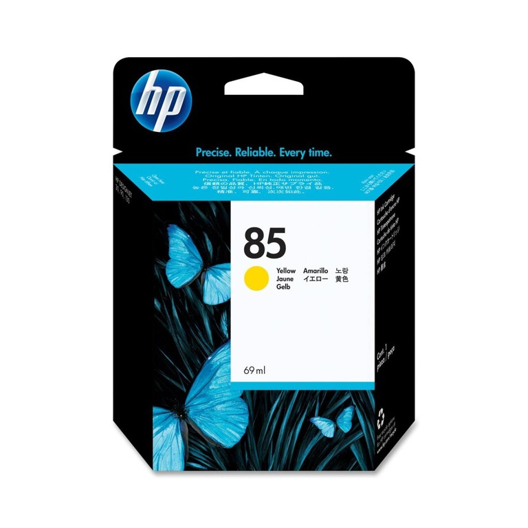 BLEKK HP NO85 GUL INK CARTRIDGE 69ML
