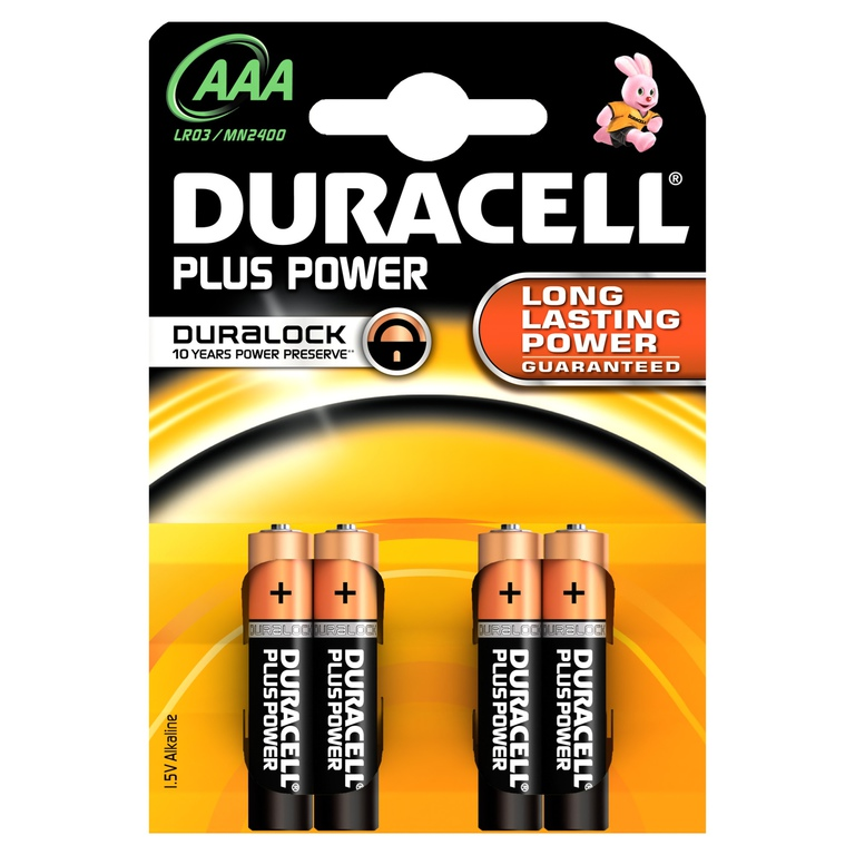 BATTERI DURACELL PLUS POWER AAA (4)