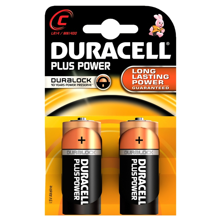 BATTERI DURACELL PLUS POWER C (2)