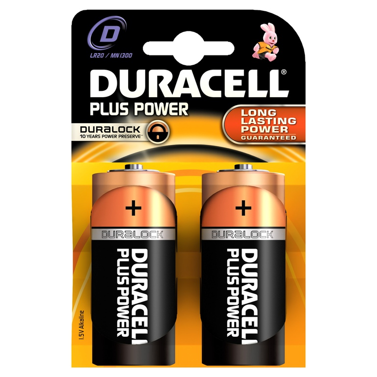 BATTERI DURACELL PLUS POWER D (2)