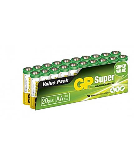 BATTERI GP SUPER AA/LR6 (20) ALKALISK