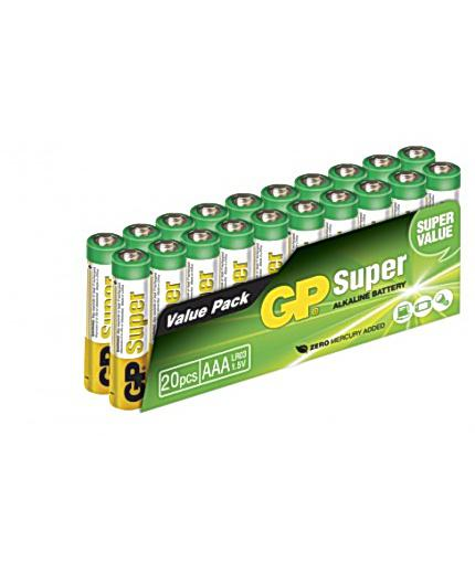 BATTERI GP SUPER AAA/LR03 (20) ALKALISK