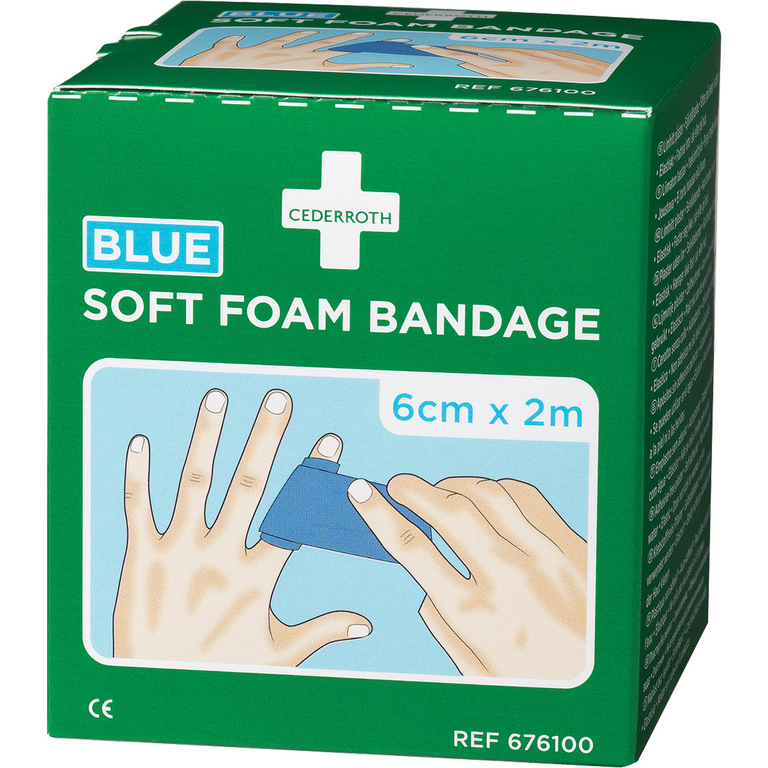 BANDASJE SOFT FOAM BLÅ CEDERROTH