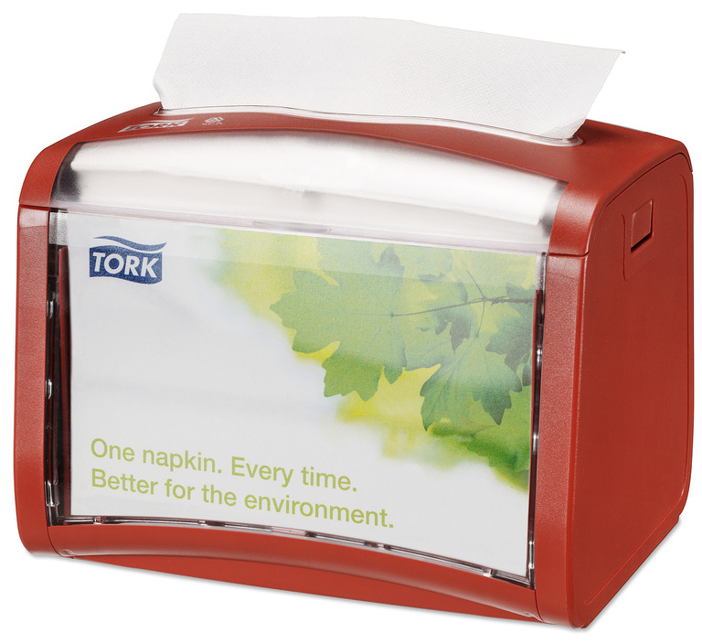 TORK DISPENSSER EXPRESSNAP BORD RØD N4