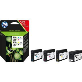 BLEKK HP NO950 XL BLACK/951 XL 4-PACK