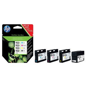 BLEKK HP NO932 XL BLACK/933 XL 4-PACK