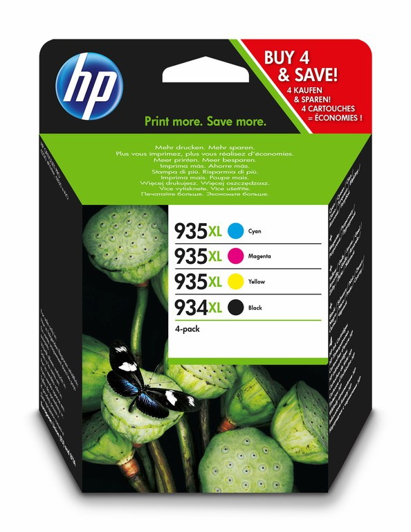 BLEKK HP NO934XL CMYK COMBO PACK